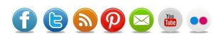 simple round social media icons